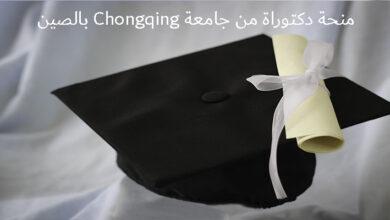منحة دكتوراة من جامعة Chongqing بالصين
